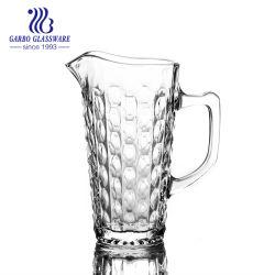 1L'eau de verre gravés pichets avec poignée style restaurant pour boire de jus de Hot Sale Ensemble de verre en Amérique du Sud Hot Sale cruches de verre (GB1184HH)