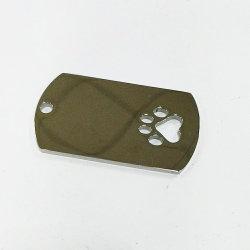 Découpe personnalisée inoxydable Dog Tag Pendentif délicat pour les hommes et femmes