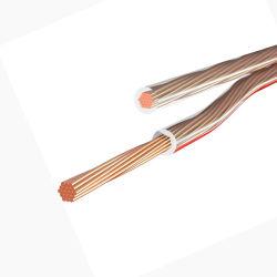Venta caliente 2core 4mm Conector Banana transparente Cable de altavoz HiFi Axd