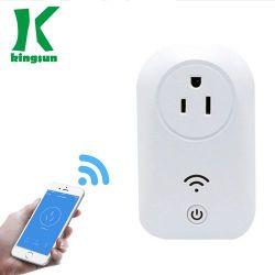 Norma 10Una aplicación inteligente de control inalámbrico WiFi Enchufe hembra portátil