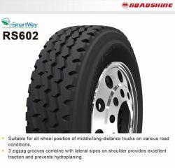 레이디얼 TBR 타이어 7.50r16 750r16 750/16 RS602 RS604 RS607 RS610 RS618A RS622 중부하 작업용 트럭 타이어 로드샤인/골드파트너 브랜드