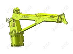 Brazo telescópico barco grúa de carga de pedestal diseño