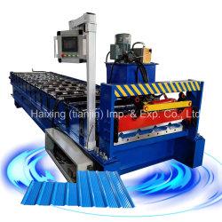 Les machines de métal en rouleau trapézoïdal USA aluminium panneau de toit de tuile de Sheet Molding Making Machine pour les toitures vente