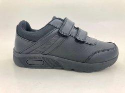 Schule-befestigen beiläufige Freizeit-Fußbekleidung, Einspritzung-Schwarzes magische Brücke-Schuhe
