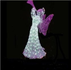 Luz de Anjo de Natal de LED LED Decoração de Natal Luz Motif