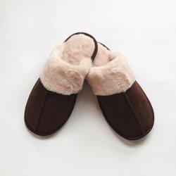 Señoras Micro gamuza de piel sintética de piso interior suave cálido dormitorio zapatillas Mujer Invierno zapatos patines deslizantes en el interior del Calzado Mujer