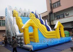 Hot-Selling inflables producto de la segunda diapositiva diapositiva con poco Puerta amarilla