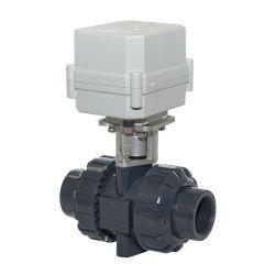 2 modos de NSF Ce PVC plástico de agua eléctrico motorizado de UPVC motorizado del actuador de válvula de bola