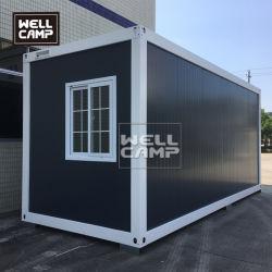 2020 20FT expandierbares modulares Flachgehäuse-Behälter-vorfabrizierthaus für Arbeitslager-Anpassung
