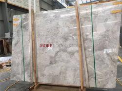 Pietra di marmo naturale grigio-chiaro per la scala della parete della pavimentazione