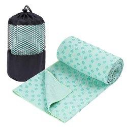 Progettare l'anti tovagliolo per il cliente dei puntini del silicone del PVC di Yogitoes di pattino di Microfibre per yoga