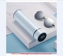 Toque inovador de medição de temperatura inteligente 304 Copo térmico em aço inoxidável