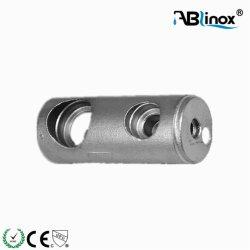 L'AISI304 /316 et miroir de la main courante en acier inoxydable satiné Support de tige /Bar les raccords et du raccord de tube