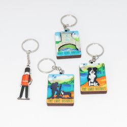 Рекламные эпоксидной сувенирный подарок изготовленный на заказ<br/> цепочке для ключей с кольцом для украшения