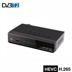 Junuo voller HD Digital T2-Decoder des Fernsehapparat-Empfänger-Metallgehäuse-H. 265 DVB