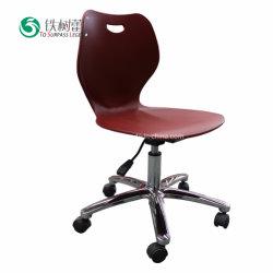 كرسي المهام الدوّار القابل للفك في غرفة الصف البلاستيكية مع عجلة محورية TSL-8220