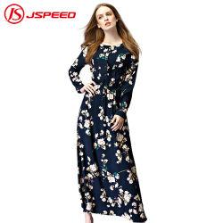 2019人の新式の長い袖のサイズの女性とDresses女性のためのマキシのイスラム教の服