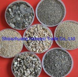 Fabrik professioneller Lieferant Gold Silber Expaned Vermiculite Pflaster Vermiculite für Gießereien und Feuerfest Konstruktion