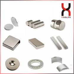 円形中国の常置強いネオジムNdFeBかブロックまたはリングまたはアークまたはディスクまたはシリンダーまたはさら穴を開けられたまたはセグメント磁石