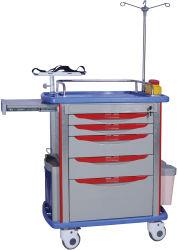 Assistência Médica de plástico ABS Medicina anestesia carrinho de emergência de mobília hospitalar