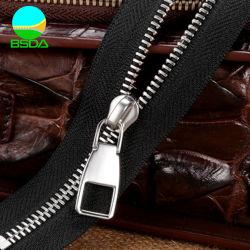 3# zíper de metal para jeans com aço inoxidável dentes melhor qualidade dos dentes polido Zipper