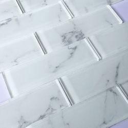 Salon mur dosseret décor mosaïque de verre de tuile de métro 300X300