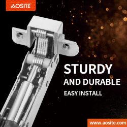 A04 marco de aluminio con Clip bisagra de la amortiguación hidráulica bisagra de puerta del armario