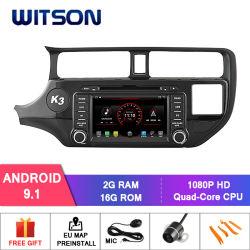 Processeurs quatre coeurs Witson Android 9.0 voiture GPS pour lecteur de DVD Kia Rio CPU : AC8227L à quadruple coeur ARM Cortex-A7 4*1,5 GHZ