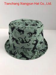 Kind-Baumwolle gedruckter Wannen-Form-kundenspezifischer Schutzkappen-Hut