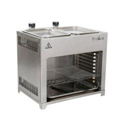 ETL Bescheinigungs-Edelstahl-Doppelt-Ofen-Gas BBQ-Gitter (mit Platte auf die Oberseite) für im Freiengas BBQ