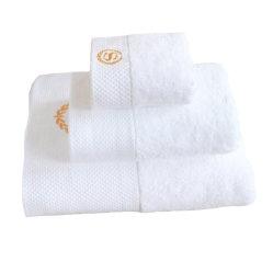 100% algodão Hotel Face Algodão Terry Toalha de banho com logotipo Bordado