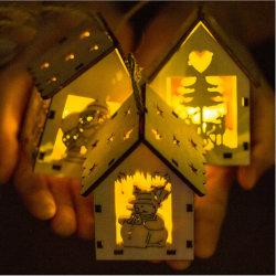 La mobilia Pendant della decorazione dell'albero di natale della baracca degli indicatori luminosi di natale scherza il regalo