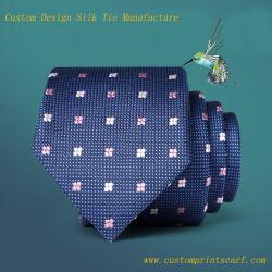 La conception personnalisée 100% Soie Jacquard Neck Tie