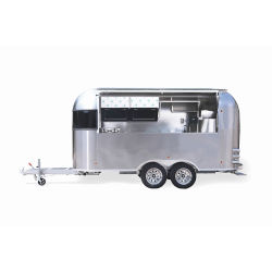 Mobile Café gelado churrascos Hot Dog Trailer de fast food