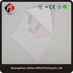 Gatefold mariage fait main de conception de carte d'Invitation découpé au laser