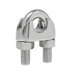 Clips de la corde de fils en acier inoxydable DIN741