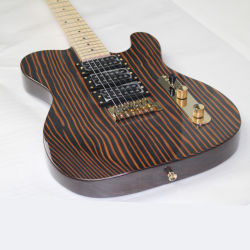 Zebra древесины из одной части тела St/TL/LP/Sg электрическая гитара