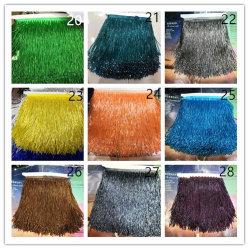 Commerce de gros 15cm de plus de couleurs de perles Tassel Fringe robe dentelle pour