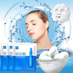 Ácido hialurônico Folha de rosto colágeno máscara hidratante facial beleza coreana de branqueamento de cuidados da pele Mascara Masker Maske Máscara facial
