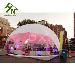 Os fabricantes da China Branco Esfera Meia Dome Geodésico caso tenda para entretenimento