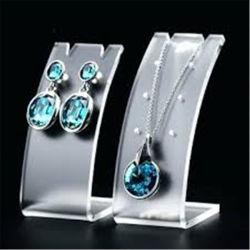 Jóias de venda a retalho de material da chapa de acrílico transparente significa Visor de acrílico