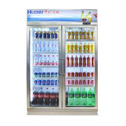 Frigorifero commerciale della bevanda della drogheria del dispositivo di raffreddamento della birra del frigorifero della visualizzazione dei 2 portelli da vendere