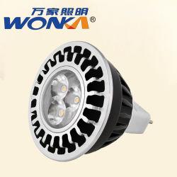 Rapidamente lampadina del punto nero di alluminio dell'alloggiamento MR16 LED di dissipazione di calore