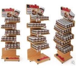 Afficher l'étagère rack en carton personnalisé costume pour stratégie de promotion de supermarché