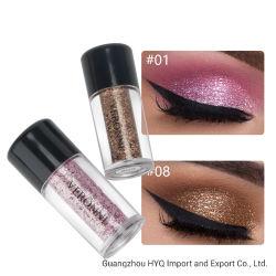Fard à paupières Glitter VERONNI Hot Vente de poudre métallique étanche Shimmer de pigments de couleurs Ombre cosmétiques maquillage des yeux