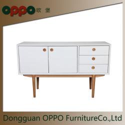 Governo domestico del basamento di profilo basso TV della mobilia con l'alta lacca bianca di lucentezza