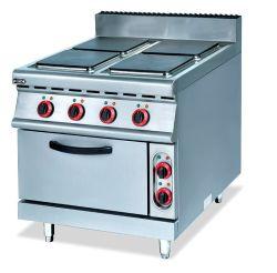 Kokende Waaiers & de ElektroOven van het Kooktoestel met Warmhoudplaat op Kabinet