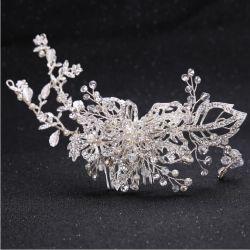 Pearl White Crystal de belles robes de mariée Peigne à cheveux Mode bijoux