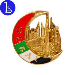Personalizar el Oro Metal Construcción Dubai nevera imán de nevera