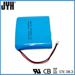 Lithium 18650 2000mAh Pak van de Batterij van Li van de Batterij 8000mAh 3.7V het Ionen